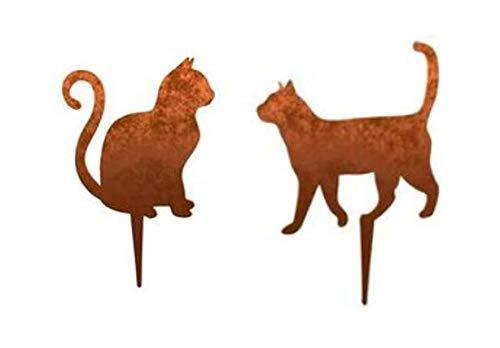 Melingo Katzen laufend und sitzend, 2er Set