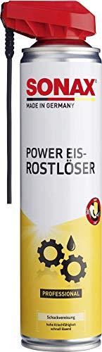SONAX PowerEis-Rostlöser mit EasySpray (400 ml) Schockvereiser zum effektiven Lösen von festsitzenden Verbindungen | Art-Nr. 04723000
