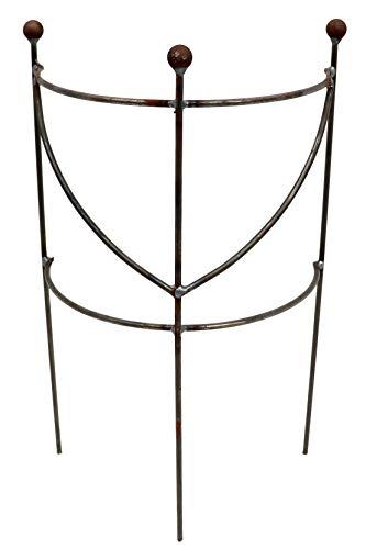 terracotta24 Staudenhalter halbrund H:50 B:30 T:16cm stabil massiv Vollmaterial, Pflanzenstütze, Rankhilfe, Rankgitter, Beetgitter