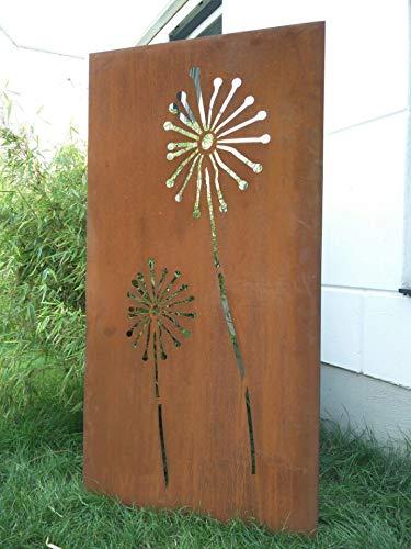 Zen Man Edelrost Garten Sichtschutz aus Metall Rost Gartenzaun Gartendeko edelrost Sichtschutzwand H180*75cm 031654-3