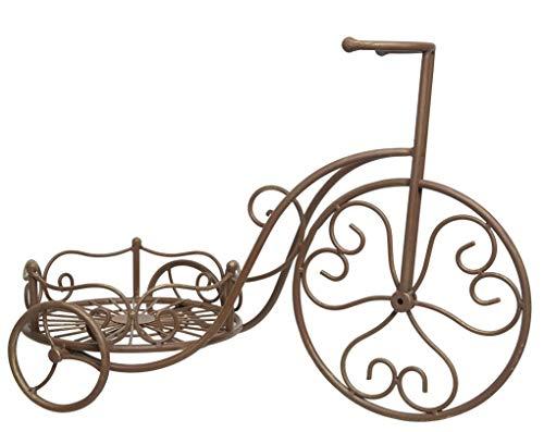Kaemingk ausgefallenes dekoratives Garten-Deko Fahrrad aus Metall zum Bepflanzen mit Korb für Blumen