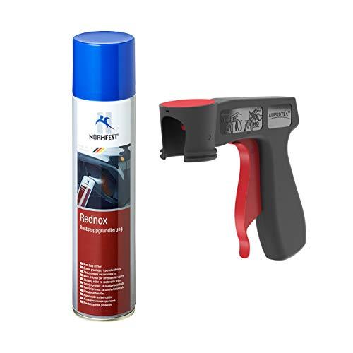 AUPROTEC Rostwandler Roststopp Grundierung Rednox Anti Rostspray Rost Stop Schutz Spray 1x 400ml+ 1x Original Pistolengriff
