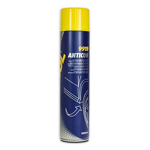 MANNOL Anticor Unterbodenschutz Schwarz Korrosionsschutz Sprühdose, 650Ml
