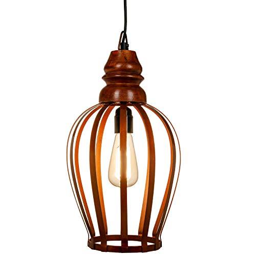MAADES industrielle Vintage Pendelleuchte Lampe | Hängeleuchte Cargo Rost 35cm hoch, für E27 Leuchtmittel | Diese Deckenlampe ist für Ihre Küche, Wohnzimmer oder hängend über den Esstisch