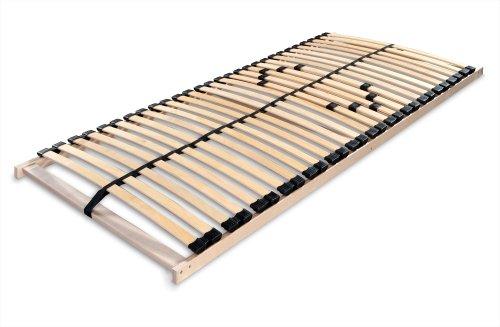 Betten ABC Lattenrost Max 1 NV zur Selbstmontage / Lattenrahmen in 100 x 200 cm mit 28 Leisten und Mittelzonenverstellung - geeignet für alle Matratzen