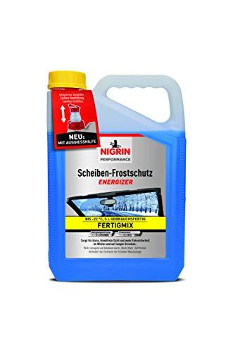 Nigrin 20563 Scheiben-Frostschutz gebrauchsfertig bis -22°C 5 Liter schneller, schlierenfreier und effektiver Scheibenreiniger Winter