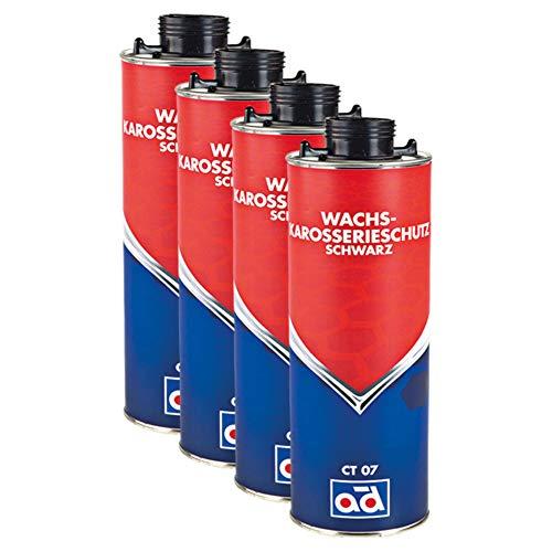 AD Chemie 4X Wachs-Karosserie-Schutz 1l Ct07 500ml Schwarz Unterboden Rostschutz Wachs Schutzwachs Auto Unterbodenwachs Korrosionsschutz Spray 020512brca