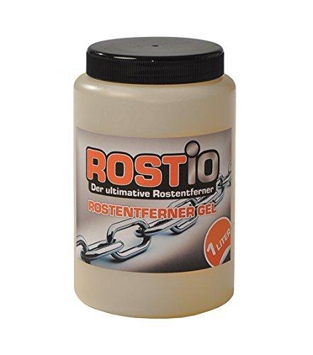 Rostio Hocheffektiver Rostumwandler/Rostentferner Gel 1 Liter | Entroster für Auto, Fahrrad, Metall, Edelstahl, Chrom …