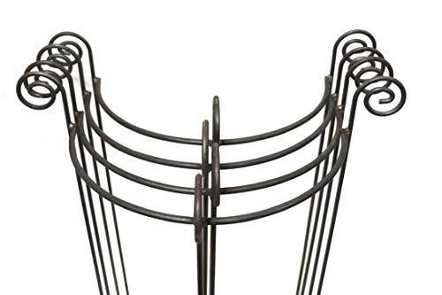4X Staudenhalter halbrund stabil Breite 45cm Vollmaterial Rankhilfe, Pflanzstütze, Rankgitter