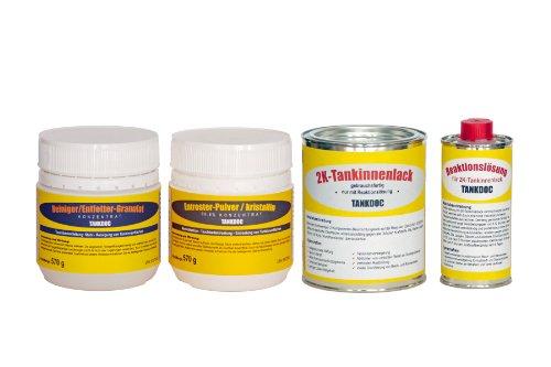 Tankdoc Tanksanierung Box 4-teilig für 15 Liter Tank Farbe lichtgrau (Box 15 lichtgrau)