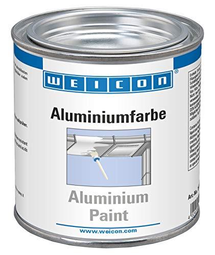 WEICON 15002375 Aluminiumfarbe 375 ml Rostschutz Korrosionsschutz für Metalloberflächen, Grau