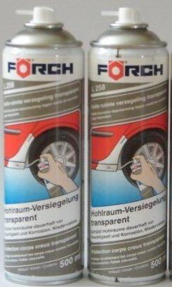 HOHLRAUMVERSIEGELUNG Sparpack ! 2 x 500ml Förch Hohlraum-Versiegelungs-Wax-Spray L258, transparent