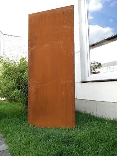 Zen Man Edelrost Garten Sichtschutz aus Metall Rost Gartenzaun Gartendeko edelrost Sichtschutzwand H180*75cm 031506-5