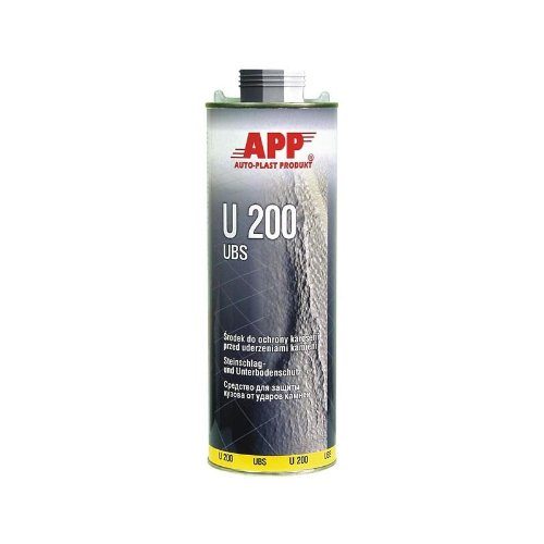 APP U200 UBS Steinschlag und Unterbodenschutz schwarz Überlackierbar 1 L 050101