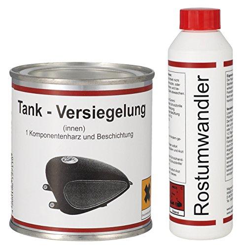 WAGNER Spezialschmierstoffe GmbH & Co. KG GmbH & Co. KG Einkomponentenharz Tankversiegelung 250 ml & Rostumwandler Rostentferner Rostlöser 250 ml