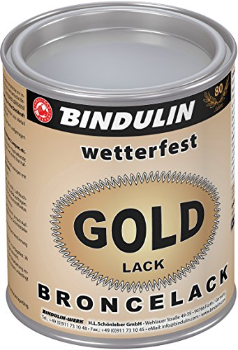 Bindulin Goldlack wetterfest Metallfarbe (750 ml)