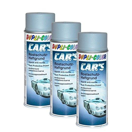 DUPLI_bundle 3X Dupli-Color Cars Rostschutz Haftgrund Spray grau 400 ml 385889