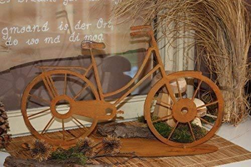 Rostikal | Edelrost Deko Fahrrad | Tischdeko und Gartendeko aus Rost Metall | zum stecken