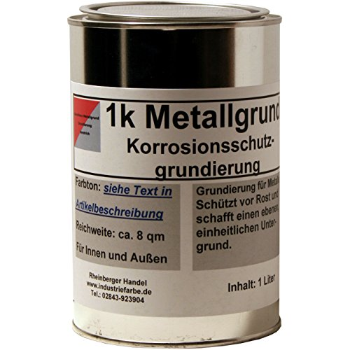 Kunstharz Rostschutzgrund, Metallgrund, mit Zinkphosphat, grau, 1 Liter