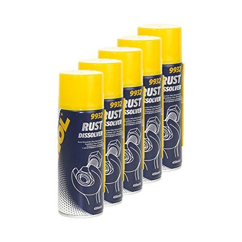 5X MANNOL 9932 Rust Dissolver Rostlöser Spray Ultra Molybden 450ml