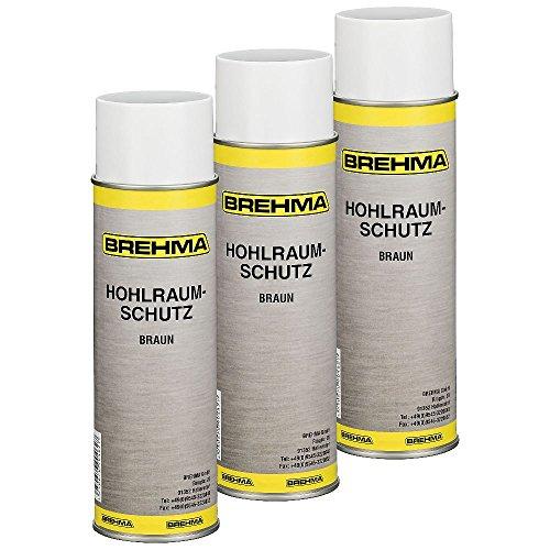 BREHMA 3X Hohlraumschutz Hohlraumversiegelung Spray 500ml Wachs