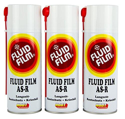 3x FLUID FILM AS-R Rostschutz Korrosionsschutz Hohlraumversiegelung 400 ml