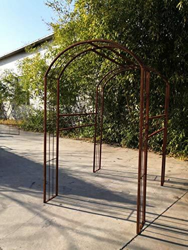 Zen Man Edelrost Garten Rankgitter Metall Rost Gartendeko Rosenbogen Garten Rankhilfe Metall Rost 031992 130 * 180 * 220cm