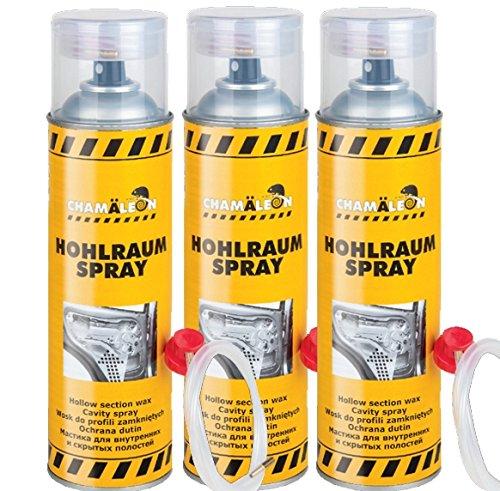 Chamäleon 3 x 500ml Spray 1K HOHLRAUMVERSIEGELUNG HOHLRAUMSCHUTZ VERSIEGELUNG HOHLRAUM Hohlraumkonservierer SPRÜHDOSE