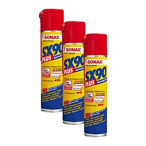SONAX 3X 04743000 SX90 Plus Rostlöser Multiöl Korrosionsschutz Spray 400ml
