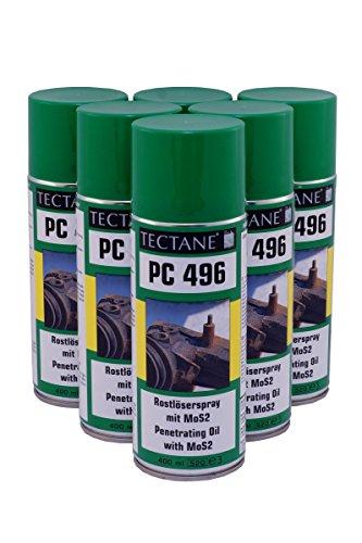 Rostlöser 6,96€/L Tectane PC496 Spray mit MOS2 6x 400ml