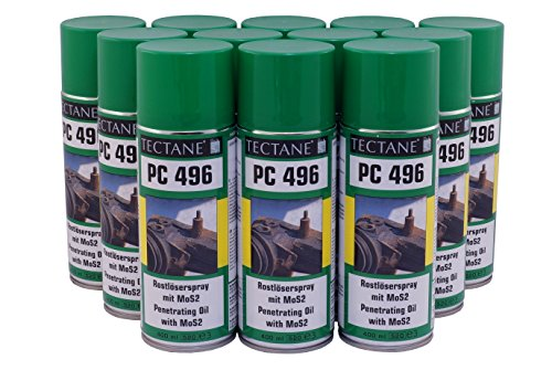 Rostlöser 6,46€/L Tectane PC496 Spray mit MOS2 12x 400ml