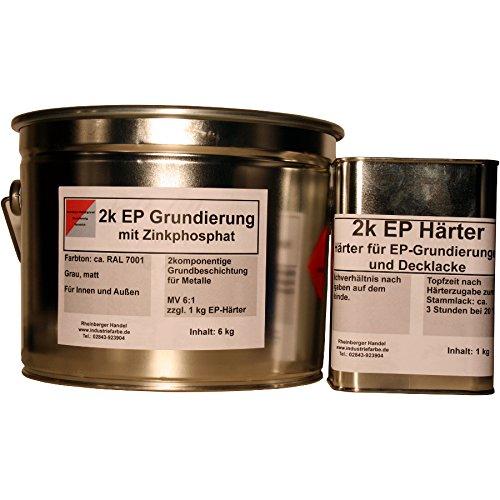 2k Epoxy Grundierung mit Zinkphosphat, Grau, Korrosionsschutz, 7 kg incl. 1 kg Härter