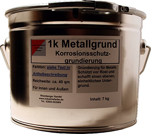 Kunstharz Metallgrund Rostschutz mit Zinkphosphat, Korrosionsschutz, grau, 4,5 Liter Gebinde
