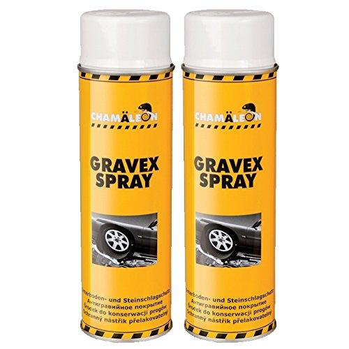 Chamäleon UBS 2 x 500ml Spray Weiß Anti GRAVEX Schutz UNTERBODENSCHUTZ UNTERBODEN