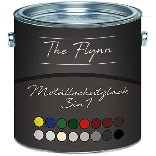 The Flynn Metallschutzfarbe 3 in 1 hochwertiger 3-in-1 MetallschutzlackLack für Metall, Eisen, Aluminium, Zink und Stahl - Rostschutz, Grundierung und Deckanstrich in einem!