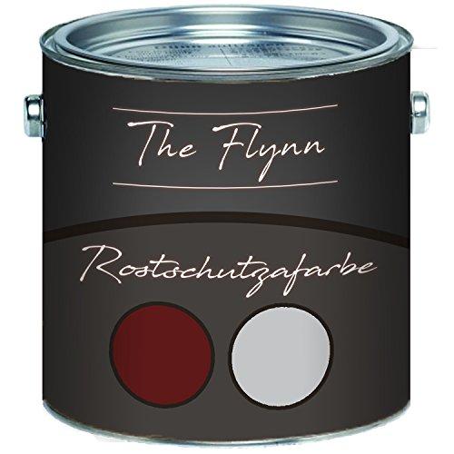 The Flynn Rostschutz-Grundierung ultimativer Schutz vor Rost Korrosionsschutz Wetterbeständig für Metall (2,5 L, Rotbraun)