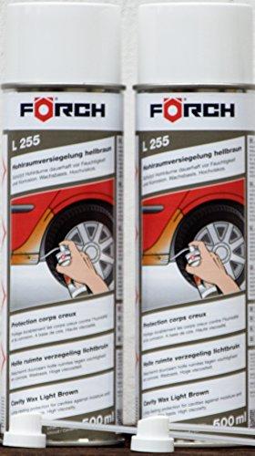 Sparpack ! 2 x 500ml Förch L255 HOHLRAUMVERSIEGELUNG Wachs-Spray, hochviskös, hellbraun, inkl.2 Hohlraumlanzen Verpackung:EINWEG