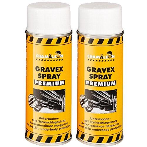 Chamäleon UBS 2X 400ml Spray Weiß Anti GRAVEX Schutz UNTERBODENSCHUTZ Premium