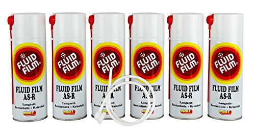 6x FLUID FILM AS-R Rostschutz Korrosionsschutz Hohlraumversiegelung Rostschutzmittel Korrissionsschutzmittel Hohlraumkonservierung 400 ml & Sonde
