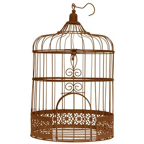 """Vogelkäfig Groß rost """"Antik"""" ø 20 x 31 cm Gastgeschenk Hochzeit Tischschmuck"""