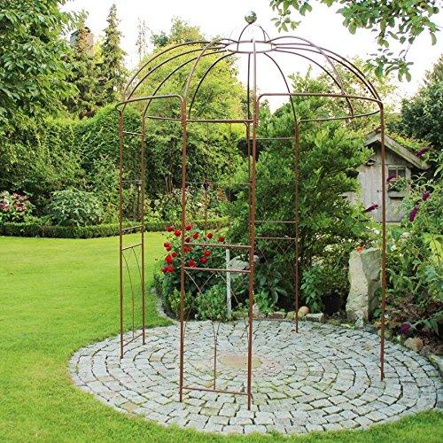 BURI Rosenpavillon Metall 270 Höhe Rankhilfe Gartenpavillon Rankgitter Rosenbogen